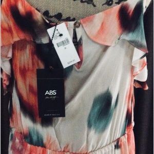 ABS Dress SZ 2X NWT $299 Floral Long Dress
